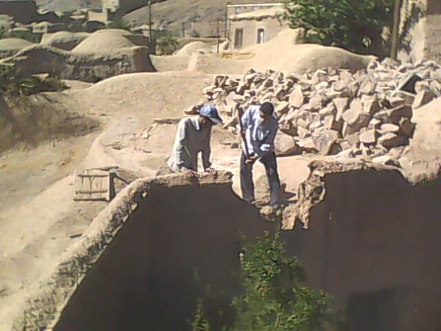 تخریب محدوده داخل طرح خانه اسماعیلی