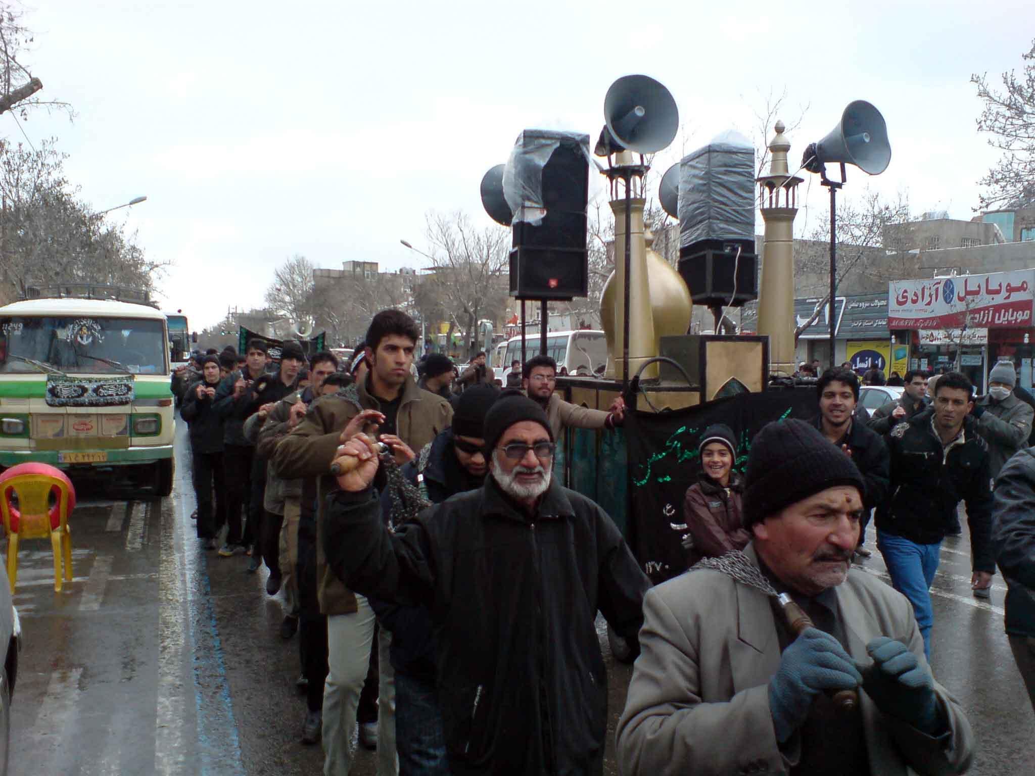 مراسم عزاداری در مشهد
